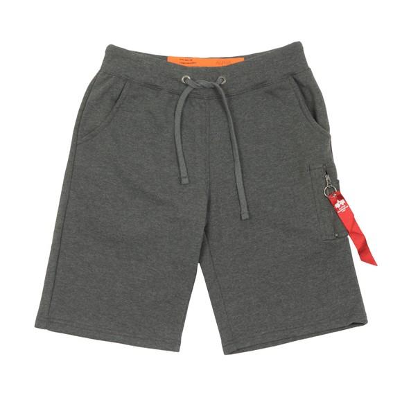 Alpha Industries Mens Grey X Fit Sweat Short