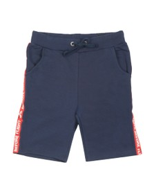 Alpha Industries Mens Blue RBF Tape Jogger Short
