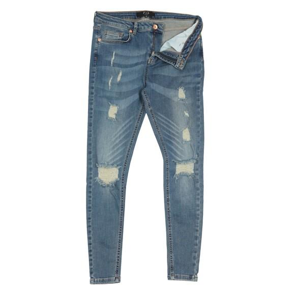 Pre London Mens Blue Ripped Jean