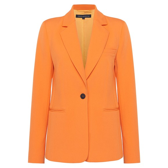 French Connection Womens Orange Adisa Sundae Suiting Tailored Jacket