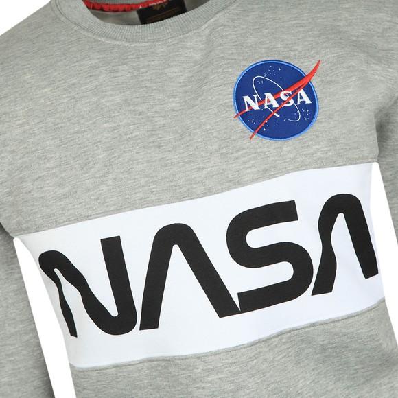 Alpha Industries Mens Grey NASA Inlay Sweatshirt main image