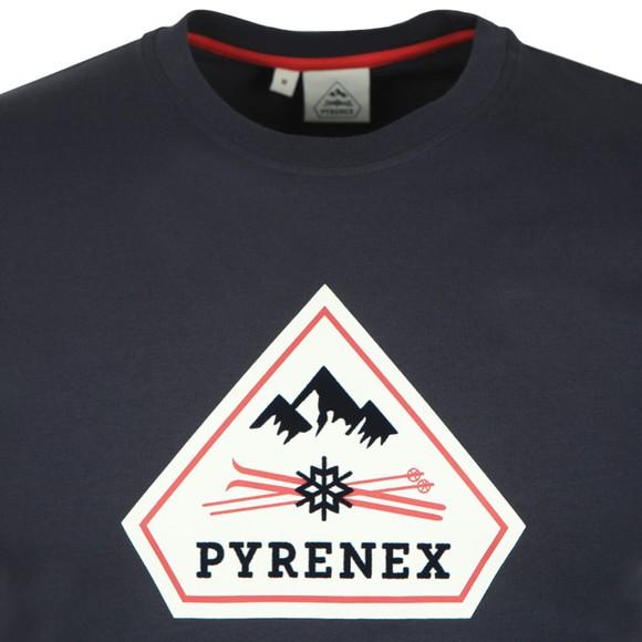 Pyrenex Mens Blue Karel T-Shirt