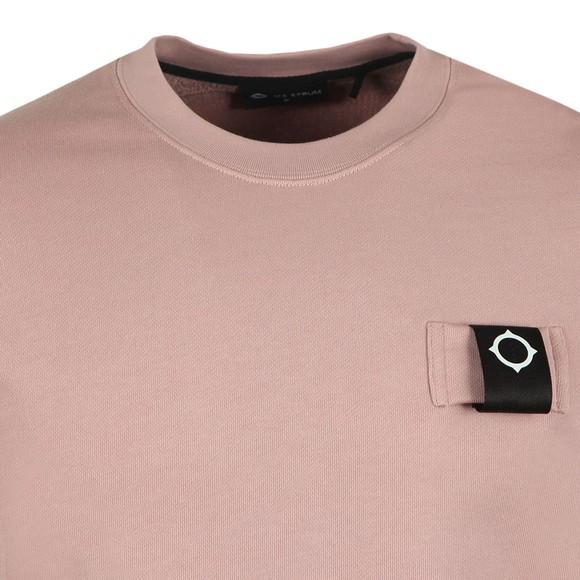 Ma.Strum Mens Pink Training Crew Sweatshirt