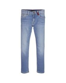 Tommy Hilfiger Kids Boys Blue Steve Slim Tapered Fit Jean
