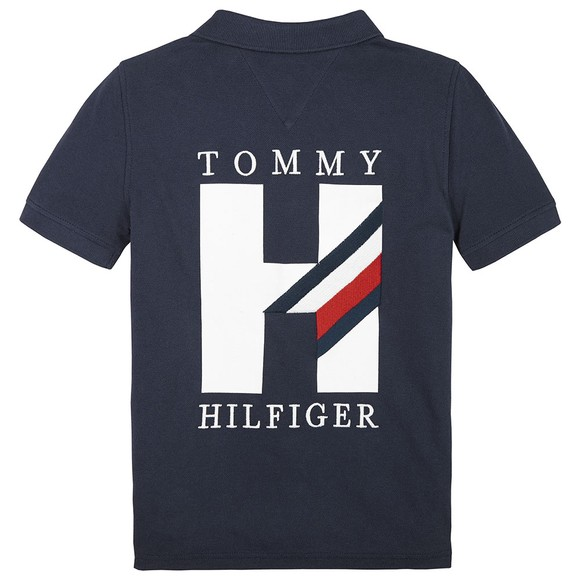 Tommy Hilfiger Kids Boys Blue Applique Polo Shirt