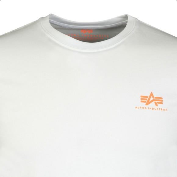 Alpha Industries Mens White Basic Small Logo T Shirt main image
