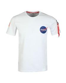Alpha Industries Mens White NASA Heavy T Shirt