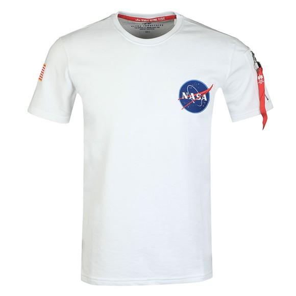 Alpha Industries Mens White NASA Heavy T-Shirt