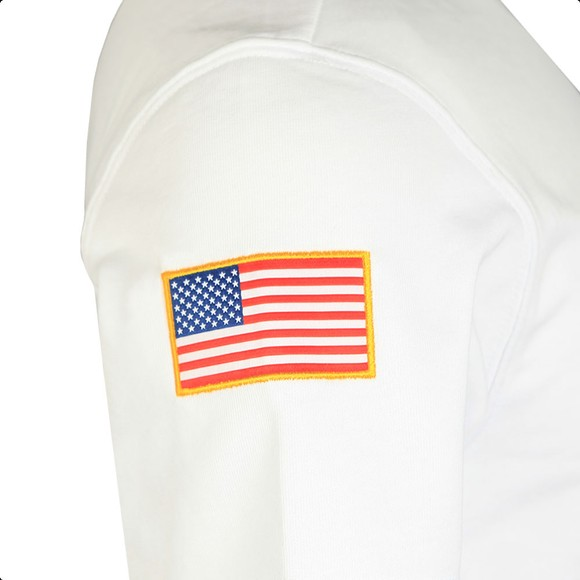 Alpha Industries Mens White NASA Heavy T-Shirt main image