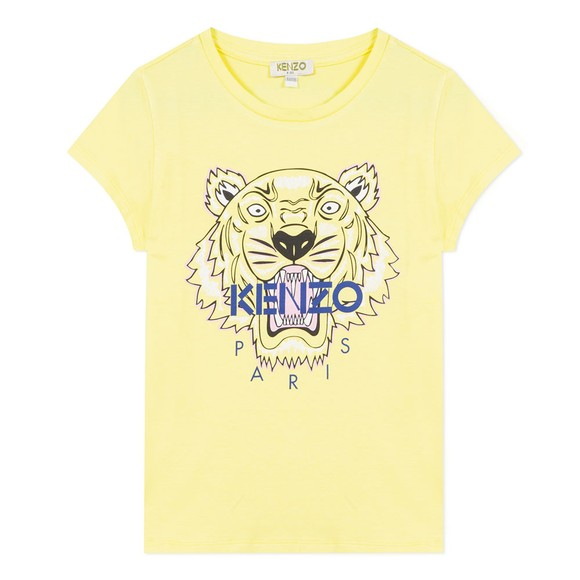 Kenzo Kids Girls Yellow Tiger JG T-Shirt