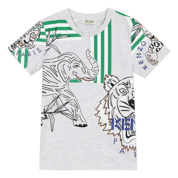 Kenzo Kids Girls Grey Disco Jungle Jacob T-Shirt