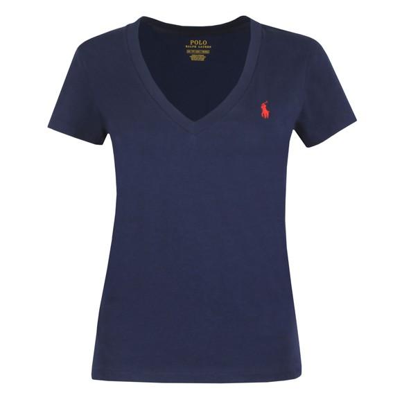 Polo Ralph Lauren Womens Blue V Neck T Shirt