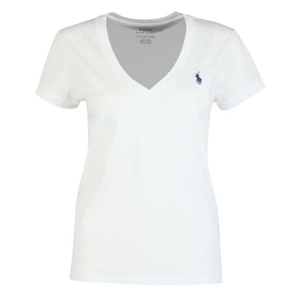 Polo Ralph Lauren Womens White V Neck T Shirt