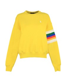 Polo Ralph Lauren Womens Yellow Relaxed Rainbow Sweatshirt