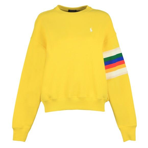 Polo Ralph Lauren Womens Yellow Relaxed Rainbow Sweatshirt