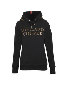 Holland Cooper Womens Black Essential Hoody