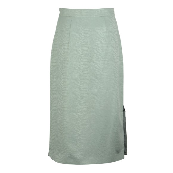 Ted Baker Womens Green Narlica Panel Detail Slit Column Skirt main image