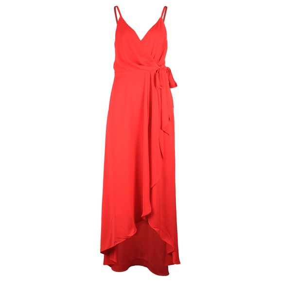 Ted Baker Womens Orange Leaanah Dipped Hem Wrap Maxi Dress