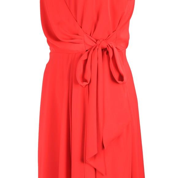 Ted Baker Womens Orange Leaanah Dipped Hem Wrap Maxi Dress