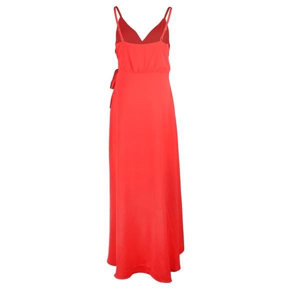 Ted Baker Womens Orange Leaanah Dipped Hem Wrap Maxi Dress main image