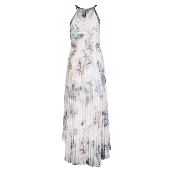 Ted Baker Womens Pink Daniiey Woodland Pleated Maxi Dress main image