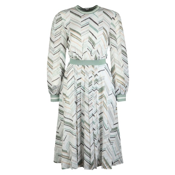 Ted Baker Womens White Katino Everglade Long Sleeve Midi Dress
