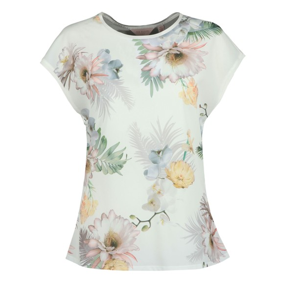 Ted Baker Womens Off-White Kcarmaa Woodland Woven Front Top