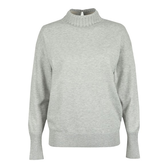 Ted Baker Womens Grey Ysiee Funnel Neck Jumper