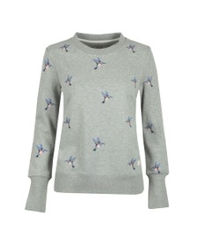 Barbour Lifestyle Womens Grey Summer Fell Sweatshirt