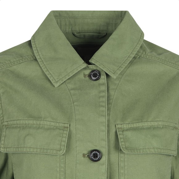 Barbour Lifestyle Womens Green Lola Washed Casual Jacket