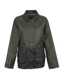 Barbour Lifestyle Womens Green Robyn Wax Jacket