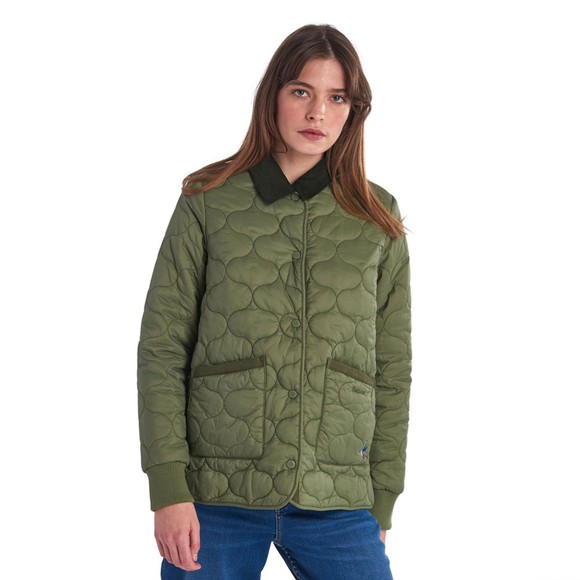 Barbour Lifestyle Womens Green Hallie Quilt main image