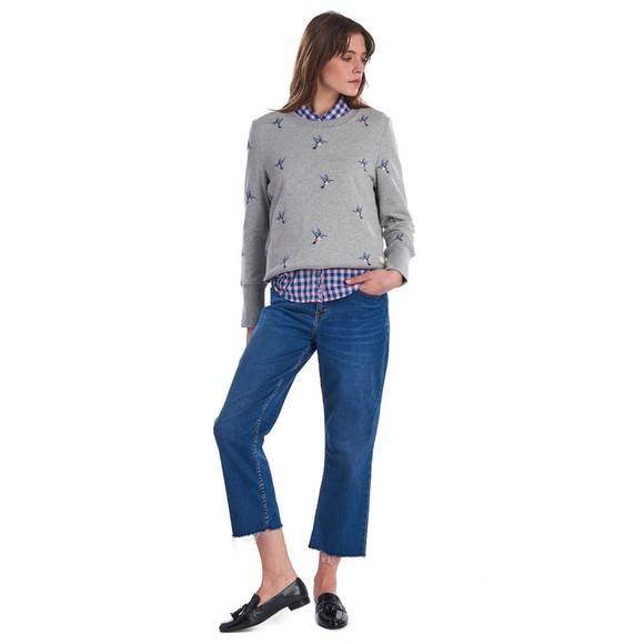 Barbour Lifestyle Womens Grey Summer Fell Sweatshirt main image
