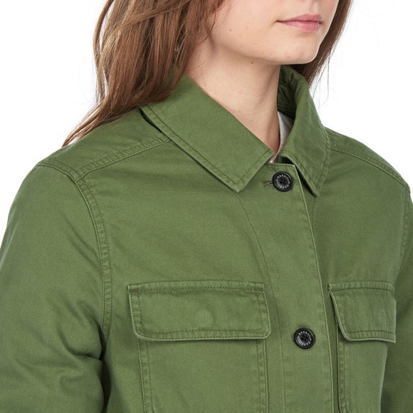 Barbour Lifestyle Womens Green Lola Washed Casual Jacket main image