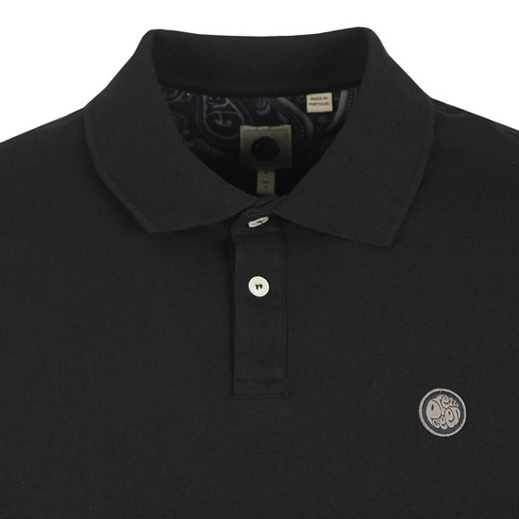 Pretty Green Mens Black Jersey Polo Shirt main image