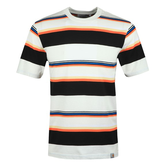 Carhartt WIP Mens Off-White Sunder Stripe T Shirt main image