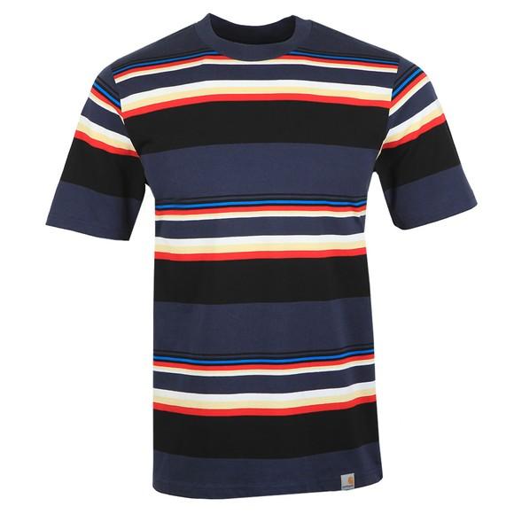 Carhartt WIP Mens Blue Sunder Stripe T Shirt