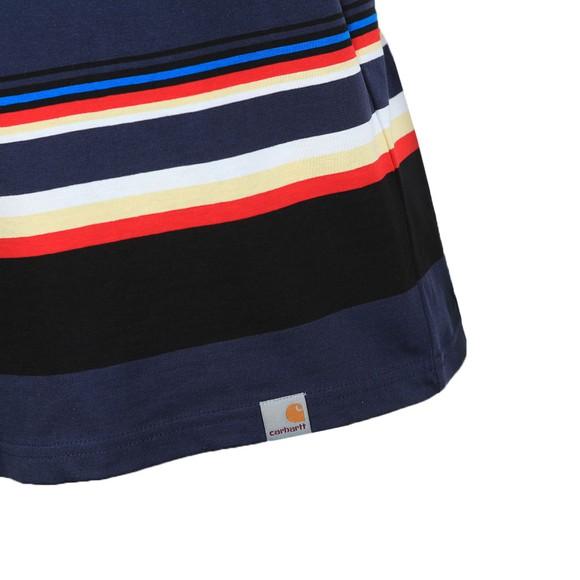 Carhartt WIP Mens Blue Sunder Stripe T Shirt main image
