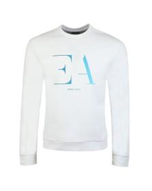 Emporio Armani Mens White Large EA Logo Sweatshirt