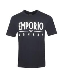 Emporio Armani Mens Blue Bold Emporio Logo T Shirt