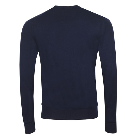 Emporio Armani Mens Blue Embroidered Eagle Logo Jumper main image