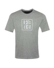 BOSS Bodywear Mens Grey Relax Box Logo T Shirt