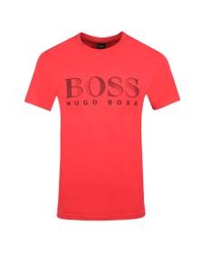 BOSS Bodywear Mens Pink Regular Fit Large Logo T Shirt
