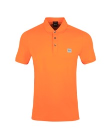 BOSS Mens Orange Casual Passenger Polo Shirt