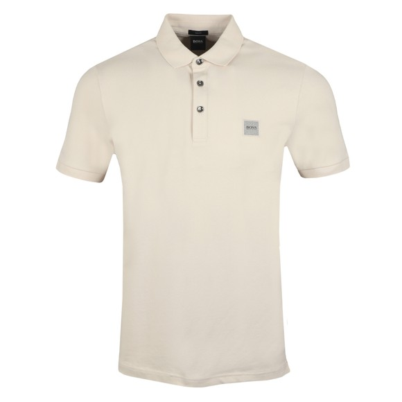 BOSS Mens Beige Casual Passenger Polo Shirt