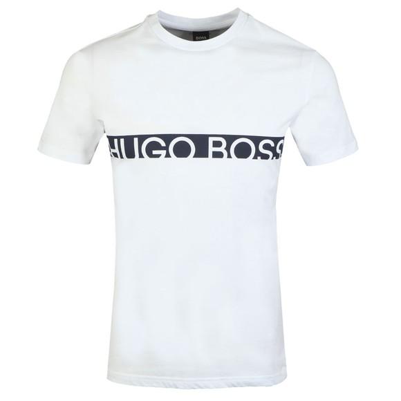 BOSS Bodywear Mens Multicoloured Slim Fit Large Logo T Shirt