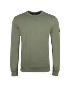 BOSS Mens Green Casual Walkup Sweatshirt