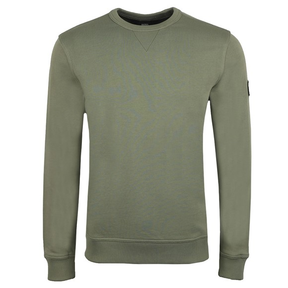 BOSS Mens Green Casual Walkup Sweatshirt