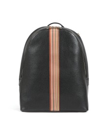 PS Paul Smith Mens Black Multi Stripe Rucksack