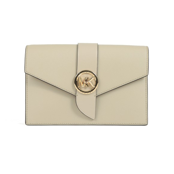 Michael Kors Womens Beige Charm Small Hand Bag